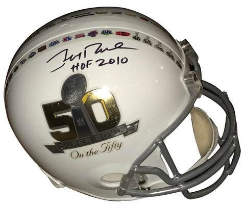 "49ers Jerry Rice ""HOF 2010"" Signed Full Size SB 50 Rep Helmet PSA/DNA ITP"