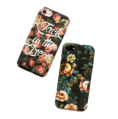 Flowery Case For iPhone 6, 7 Models