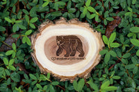 Bear Wood Slice Magnet