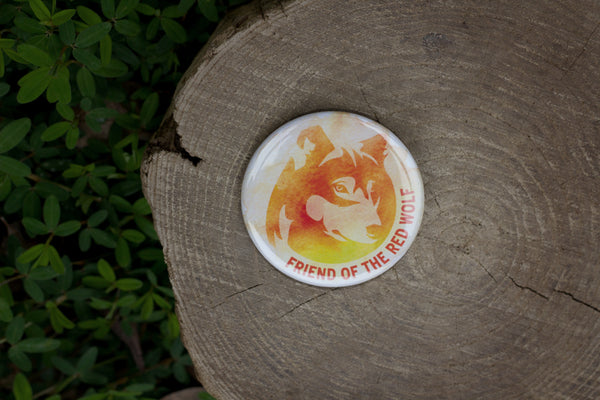 Friend of the Red Wolf Button