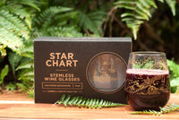 Starchart Stemless Wine Glass Set
