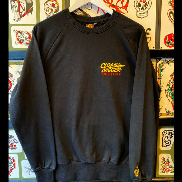 Cloak and Dagger x Ben Ford Pocket Logo Sweatshirt Special Edition Black