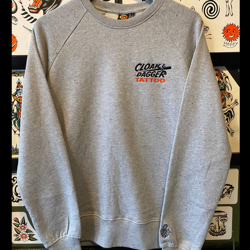 Cloak and Dagger x Ben Ford Pocket Logo Sweatshirt Special Edition Grey