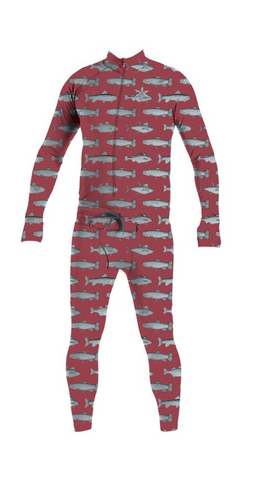 Airblaster Hoodless Ninja Suit / Burgundy Fish