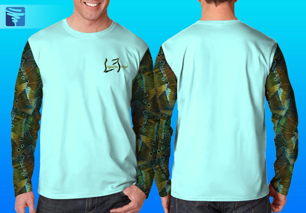 Two Camo Sleeve w/ Logo Back