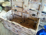 Heirloom chest handcrafted from reclaimed shrimp boat wood