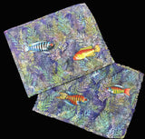 Fish in Blue Seaweed Placemats
