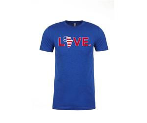 2019 Adult Red, White, and Blue Flag LOVE. Tee