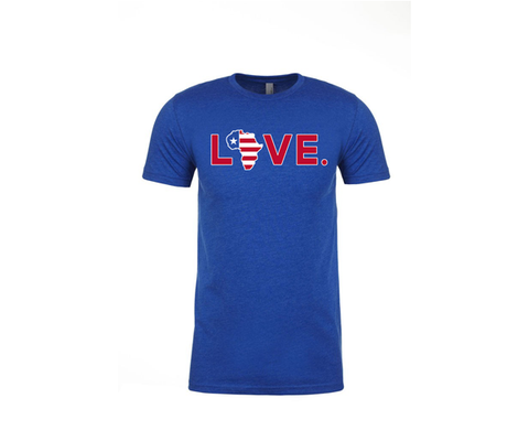 2019 Youth Red, White, and Blue Flag LOVE. Tee