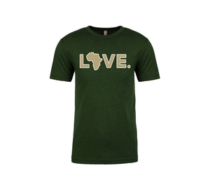 2019 Adult Spirit Tee Forest Green & Gold w/ White Trim