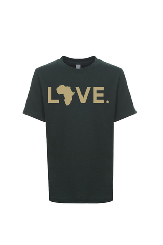 2019 Youth Spirit Tee Forest Green & Gold