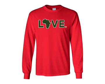 2019 Youth Red Long Sleeve Christmas LOVE. - PREORDER ONLY