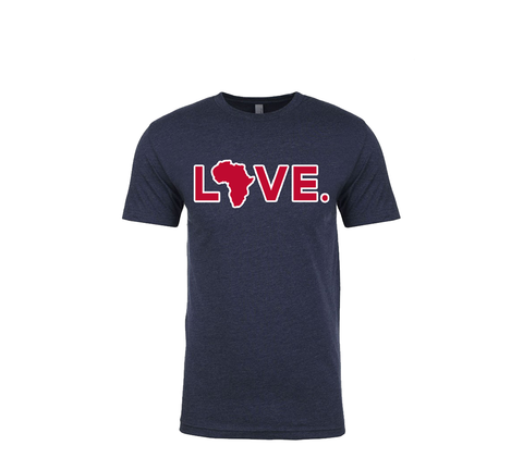 2019 Adult Spirit Tee Navy and Cardinal w/ white Trim