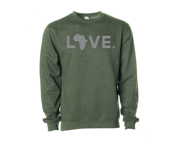 Adult Crew Sweatshirt Military