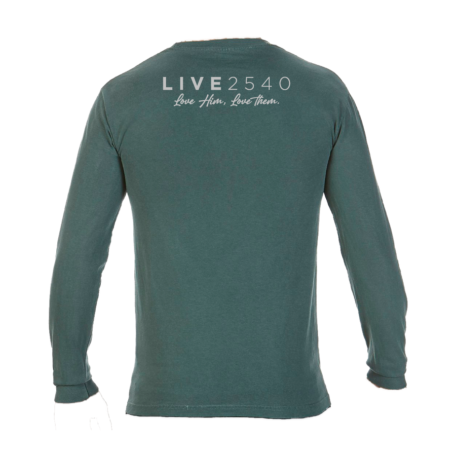 2020 Adult Comfort Long Sleeve Blue Spruce & Gray