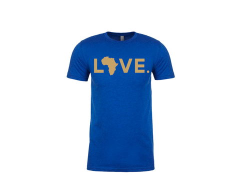 Spirit Tee Blue & Gold