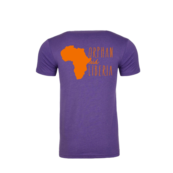 Adult Tee Purple & Orange