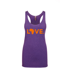 Women's Tank Purple & Orange