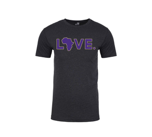 2019 Adult Spirit Tee Charcoal & Purple w/ Gold Trim