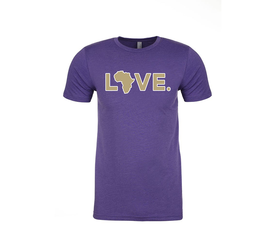 2019 Adult Spirit Tee Purple & Gold w/ White Trim