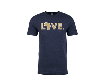 2019 Game Day Adult Tee Navy & Gold w/ White Trim