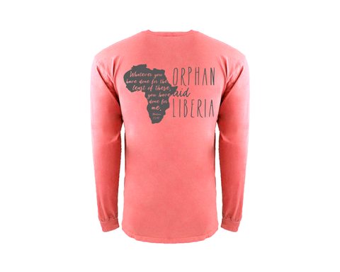 Adult Long Sleeve Orphan Sunday Limited Edition  - Guava & Gray