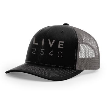 Hat - Trucker Black & Charcoal LIVE2540