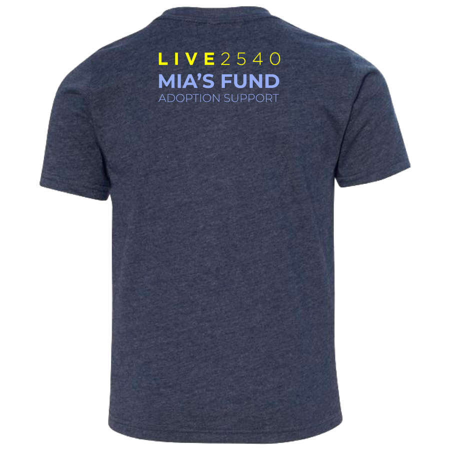 Youth Navy Mia's Fund Tee