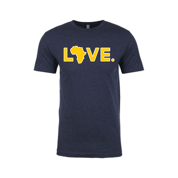 2019 Game Day Adult Tee Navy & Maize w/ White Trim
