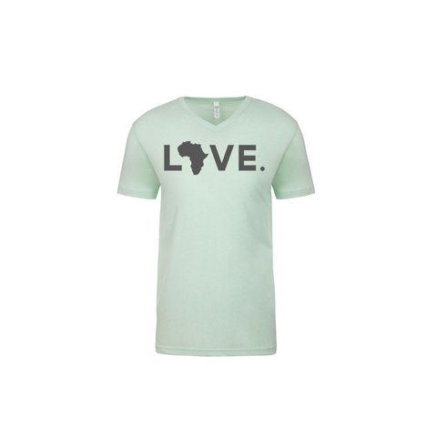 Adult V Neck Mint