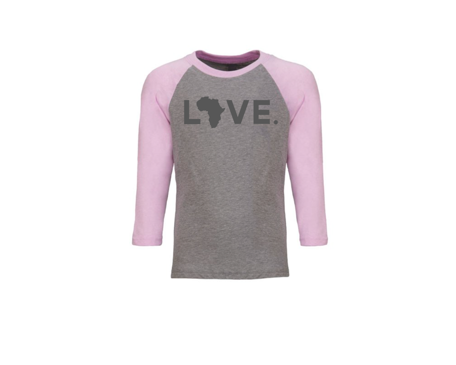 Youth Baseball Tee - Gray & Lilac