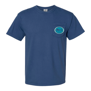 2021 Adult Comfort Colors Pocket Tee Blue