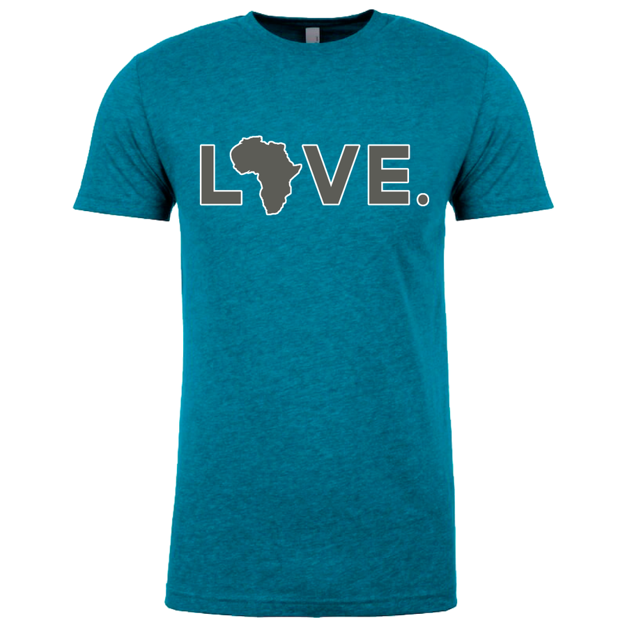 Adult Tee Teal & Gray w/ white trim