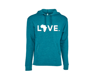 Adult Hoody Teal w/ White