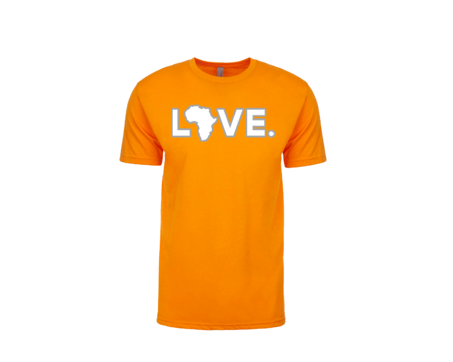 2019 Game Day Adult Tee Orange & White w/ Silver Trim