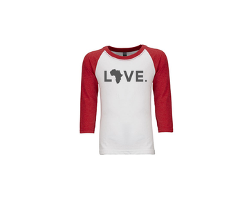 Youth Baseball Tee - White & Red