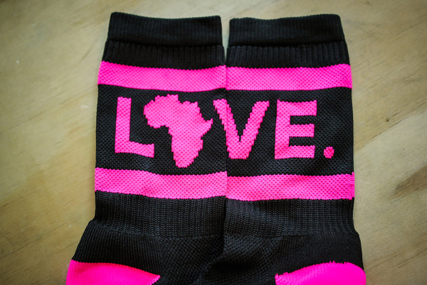 Socks Black & Neon Pink