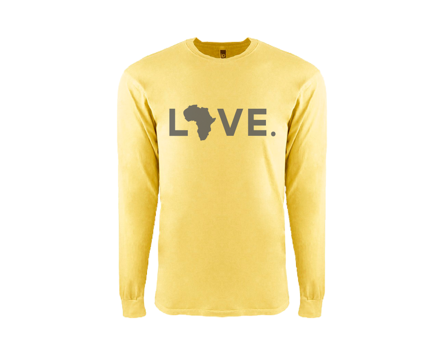Adult Long Sleeve Blonde Tee