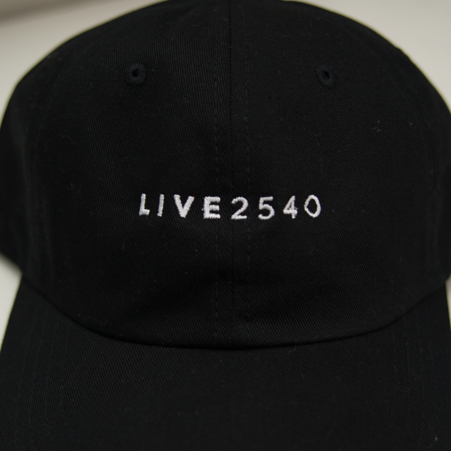 Hat - LIVE2540 - Relaxed Cotton Twill- Black