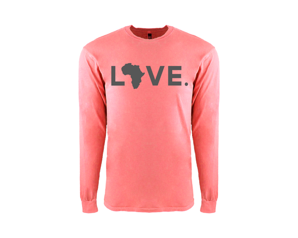 Adult Guava & Gray Long Sleeve