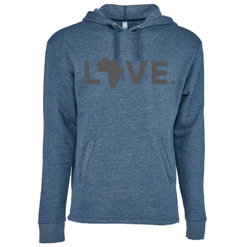 2020 Adult Hoodie Heather Bay Blue & Charcoal