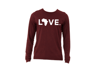 Heather Cardinal Long Sleeve