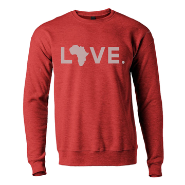 2020 Adult Sweatshirt Heather Red & Gray