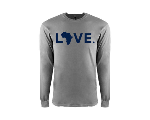 Adult Lead & Navy Long Sleeve