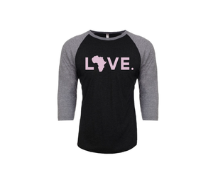 Baseball Adult 3/4 Sleeve Black & Lilac