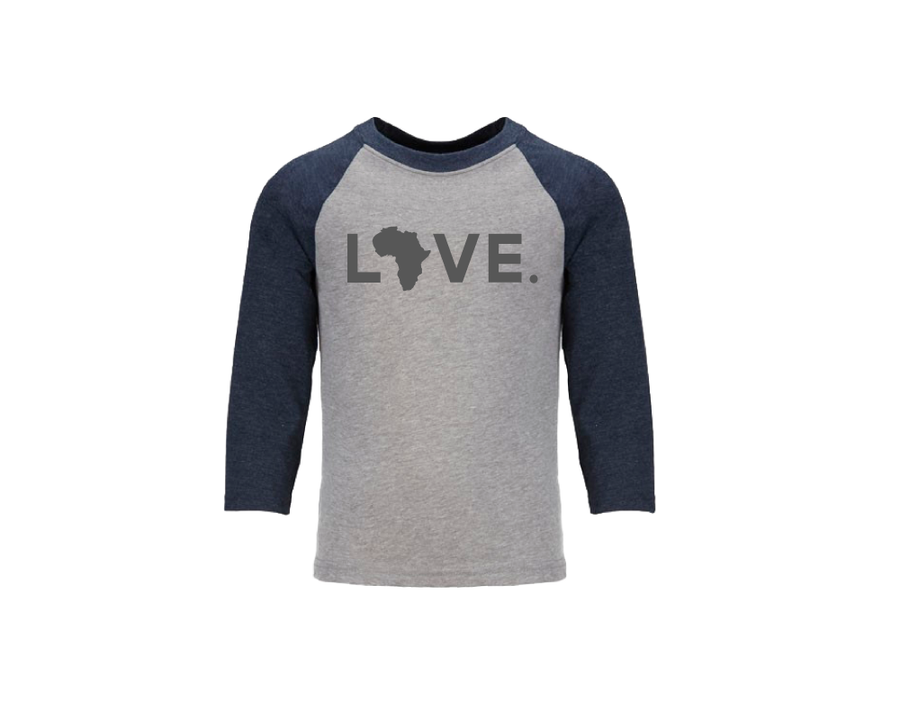 Youth Baseball Tee - Gray & Navy