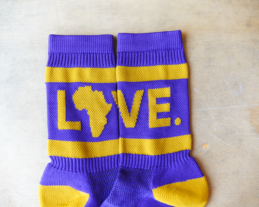 Socks Purple & Gold