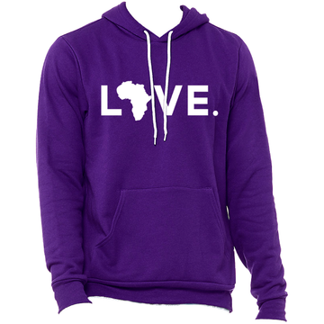 2020 Bella Fleece Hoodie Purple & White