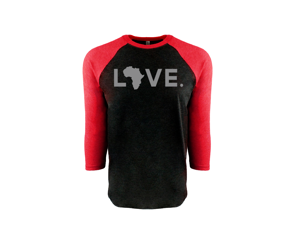 OAL 3/4 Sleeve- Red & Black