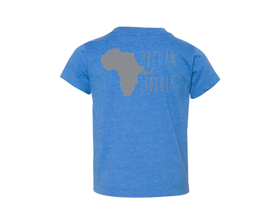 Toddler Tee - Heather Columbia Blue